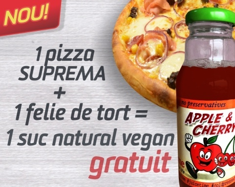 suprema + tort = suc natural vegan gratis