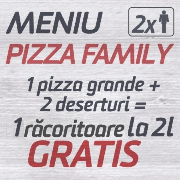 1 Pizza Grande + 2 Deserturi = 1 Racoritoare la 2l GRATIS