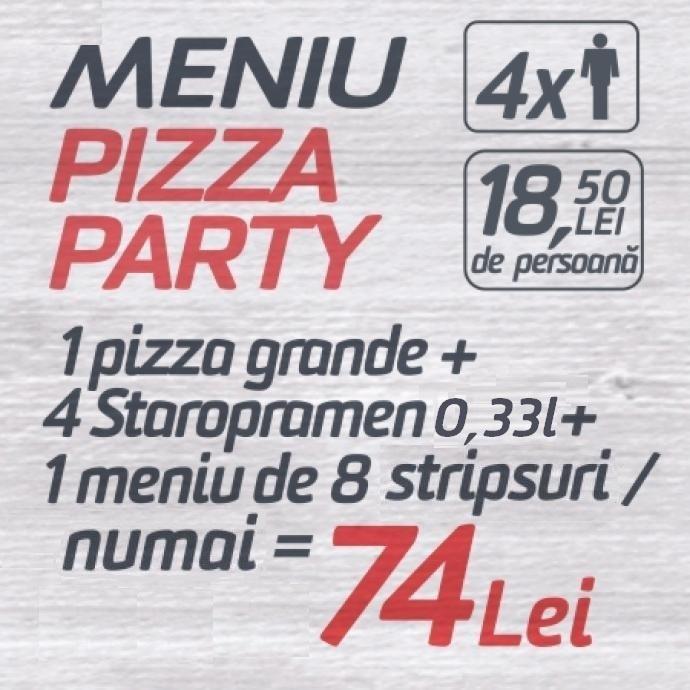 Meniu Pizza Party 74 lei